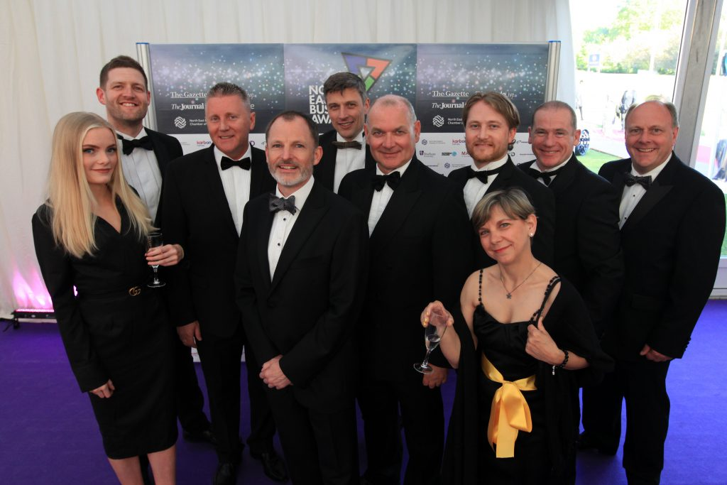 Representatives from winning company Tharsus Group arrive at the North East Business Awards 2019